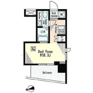 1R Mansion in Ichigayayakuojimachi - Shinjuku-ku Floorplan