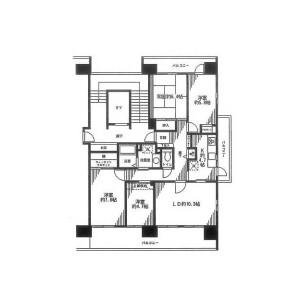 4LDK Mansion in Higashihemicho - Yokosuka-shi Floorplan
