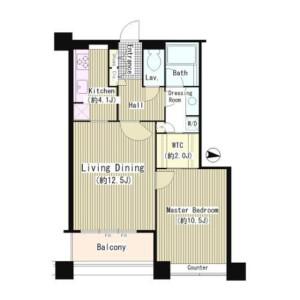 1LDK Mansion in Konan - Minato-ku Floorplan