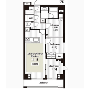 2SLDK Mansion in Yanaka - Taito-ku Floorplan