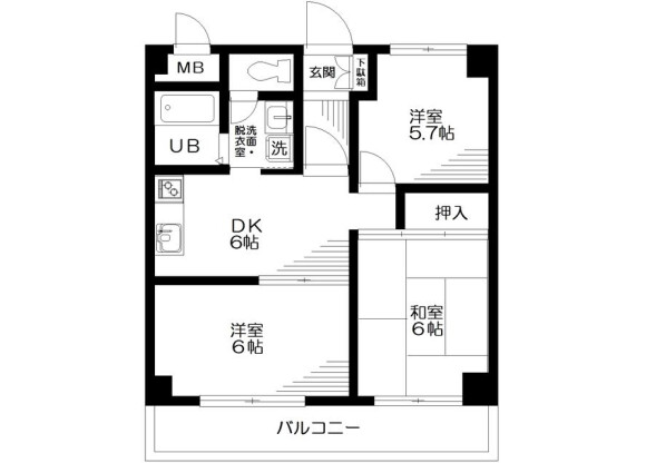 3DK Apartment to Rent in Machida-shi Floorplan