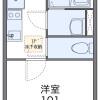 在福岡市南区内租赁1K 公寓 的 楼层布局