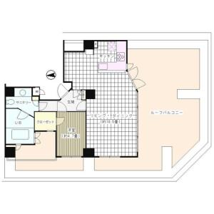1LDK Mansion in Kojimachi - Chiyoda-ku Floorplan