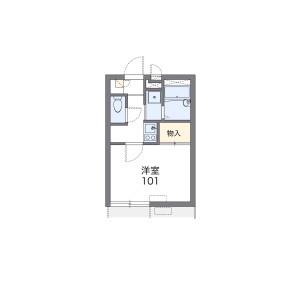 1K Apartment in Miyamotocho - Itabashi-ku Floorplan