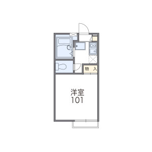1K Apartment in Midorigaoka - Zama-shi Floorplan
