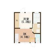 1DK House in Nakakanabutsucho - Kyoto-shi Shimogyo-ku Floorplan