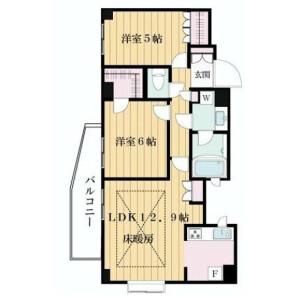 2LDK Mansion in Tamagawa - Setagaya-ku Floorplan