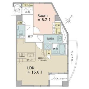 1LDK {building type} in Jingumae - Shibuya-ku Floorplan