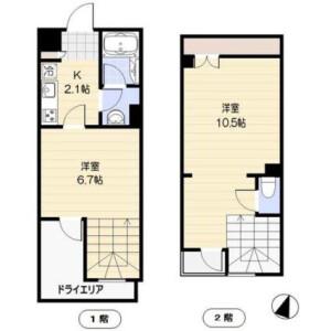 2K Mansion in Higashi - Shibuya-ku Floorplan