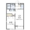 1LDK Apartment to Rent in Yao-shi Floorplan