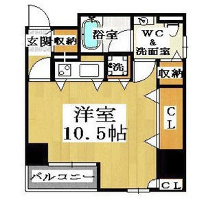 1R Mansion in Shimanochi - Osaka-shi Chuo-ku Floorplan