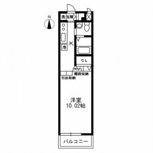 1K Mansion in Taito - Taito-ku Floorplan