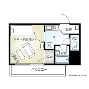 横濱市港北區新横浜-1K公寓大廈 房間格局