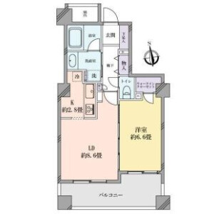 1LDK {building type} in Shirokane - Minato-ku Floorplan