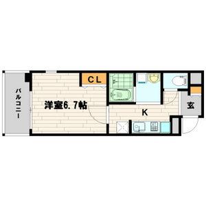 1K Mansion in Ebisuhommachi - Osaka-shi Naniwa-ku Floorplan