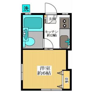 1K Apartment in Higashinogawa - Komae-shi Floorplan