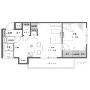 1LDK {building type} in Nishiochiai - Shinjuku-ku Floorplan