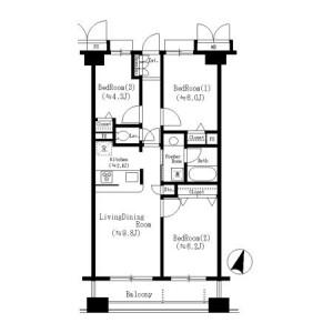 3LDK Mansion in Sasazuka - Shibuya-ku Floorplan