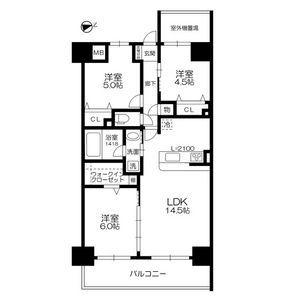 3LDK Mansion in Nippombashihigashi - Osaka-shi Naniwa-ku Floorplan