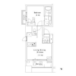 1LDK Mansion in Oshiage - Sumida-ku Floorplan