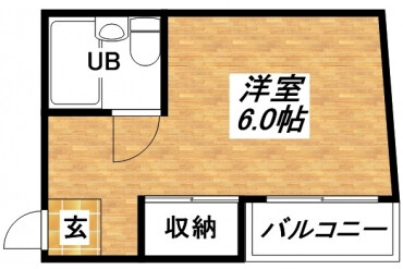 1R Apartment to Rent in Osaka-shi Higashisumiyoshi-ku Floorplan