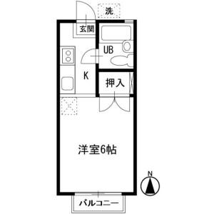 1K Apartment in Nishikawashimacho - Yokohama-shi Asahi-ku Floorplan