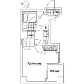 1K Apartment in Tsukishima - Chuo-ku Floorplan