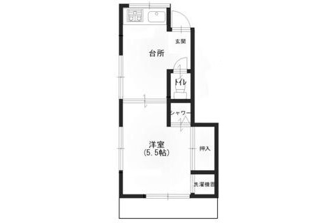 1DK Apartment to Rent in Kita-ku Interior