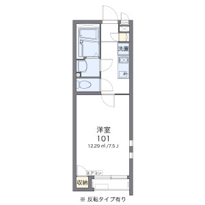 1K Apartment in Miyado - Asaka-shi Floorplan