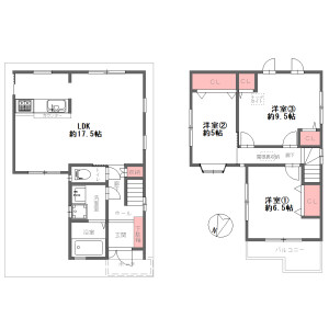 3LDK {building type} in Shimeno - Neyagawa-shi Floorplan