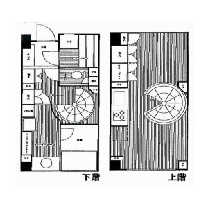 1R Mansion in Kamimeguro - Meguro-ku Floorplan