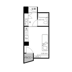1R Mansion in Uchiawajimachi - Osaka-shi Chuo-ku Floorplan