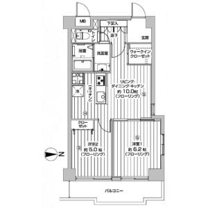 2LDK Apartment in Shibadaimon - Minato-ku Floorplan