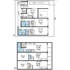 1LDK Mansion in Shirokane - Minato-ku Floorplan