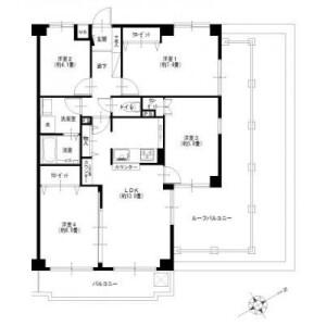 4LDK {building type} in Konan - Yokohama-shi Konan-ku Floorplan