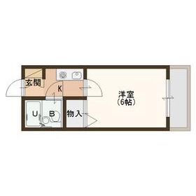 1K Apartment in Yamasaka - Osaka-shi Higashisumiyoshi-ku Floorplan