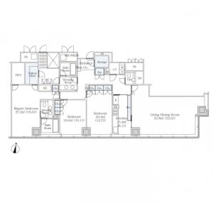 3LDK Mansion in Shibakoen - Minato-ku Floorplan