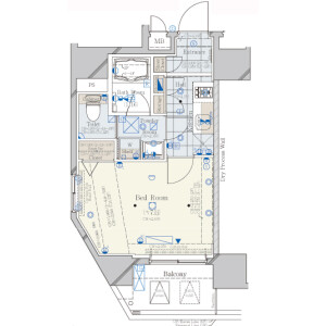 1K Mansion in Shimbashi - Minato-ku Floorplan