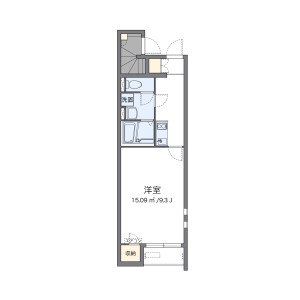 1K Apartment in Aoyagicho - Nagoya-shi Chikusa-ku Floorplan