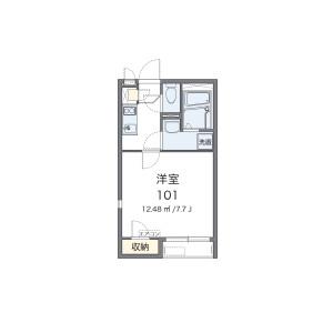 千葉市中央区 院内 1K アパート 間取り