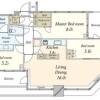 3LDK Apartment to Buy in Koto-ku Layout Drawing