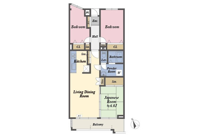 3LDK Apartment to Buy in Kita-ku Floorplan