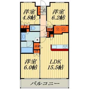 3LDK Mansion in Kitaurawa - Saitama-shi Urawa-ku Floorplan