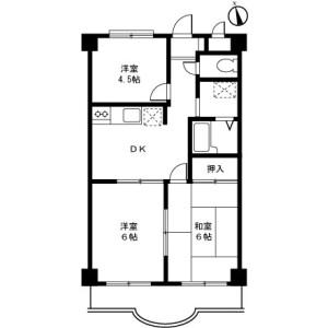 町田市三輪町-3DK公寓大厦 楼层布局