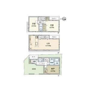 2LDK {building type} in Kitamagome - Ota-ku Floorplan