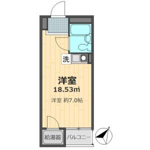 文京區千駄木-1R公寓大廈 房間格局