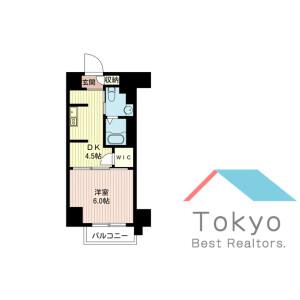 1DK Mansion in Nishishimbashi - Minato-ku Floorplan