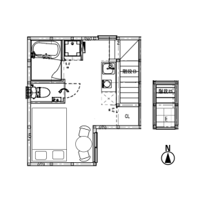 1R Terrace house in Shimochiai - Shinjuku-ku Floorplan