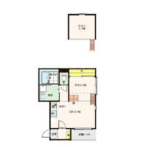 1LDK Mansion in Utajima - Osaka-shi Nishiyodogawa-ku Floorplan