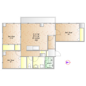 3LDK Mansion in Ebisuminami - Shibuya-ku Floorplan